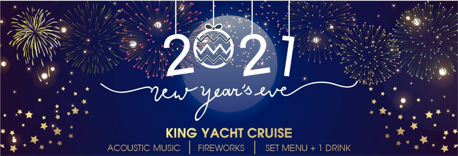 ngăm pháo hoa đón năm mới 2021 trên du thuyền KingYacht